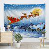 Wall Hanging Art Decor Christmas Village Print Tapestry - ICE BLUE