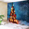 Buy Christmas Gift Tree Pattern Waterproof Wall Hanging Tapestry COLORFUL