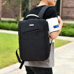 Metal Embellished Laptop Backpack - BLACK