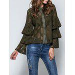 Layered Flare Sleeve Lace Top - VERDE