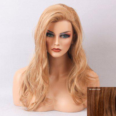 Long Side Bang Slightly Curled Human Hair Lace Front Wig