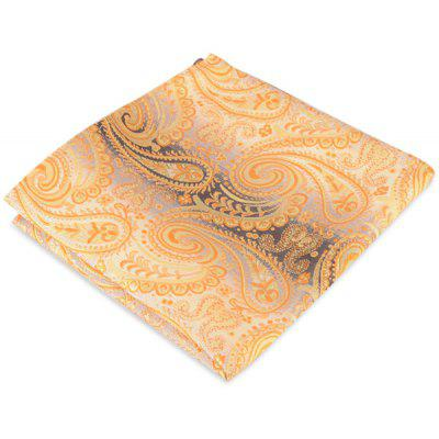 Paisley Jacquard Striped Print Pocket Square