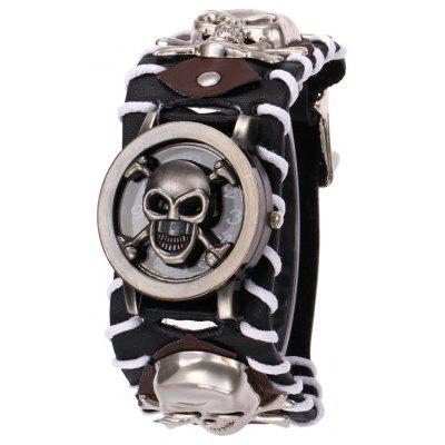 Gothic Style Skull Embellished Number Watch