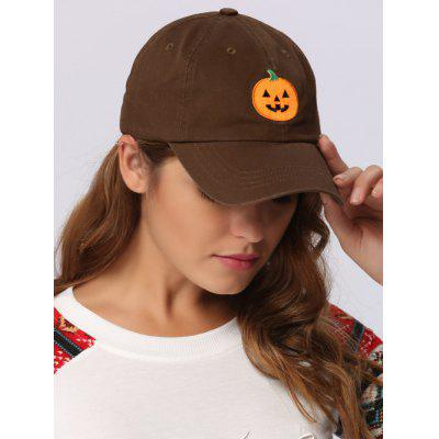 Halloween Pumpkin Embroidered Embellished Baseball Hat