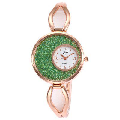 Faux Sands Face Alloy Strap Watch