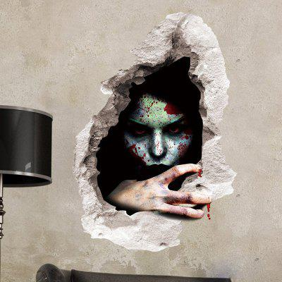 Scary Ghost 3D Broken Wall Sticker For Living Room