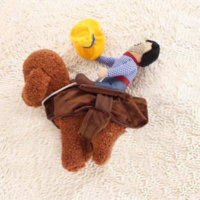 Pet Knight Outfit Cowboy Rider Costume for Dog