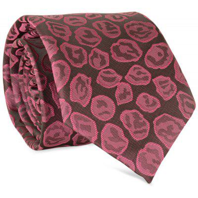 8cm Width Roses Painting Jacquard Tie