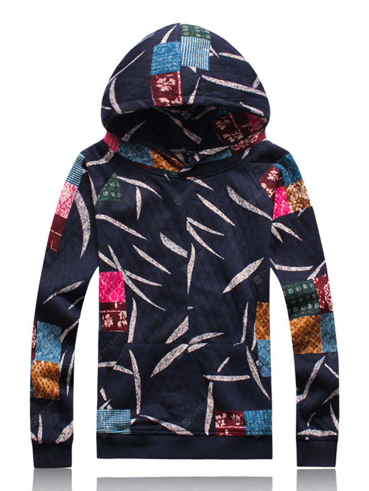 Hooded Embossing Patches und Blätter Hoodie