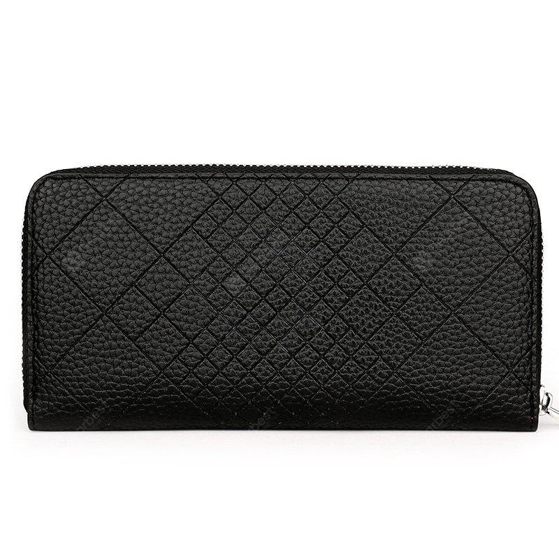 Quilted Faux Leather Clutch Wallet