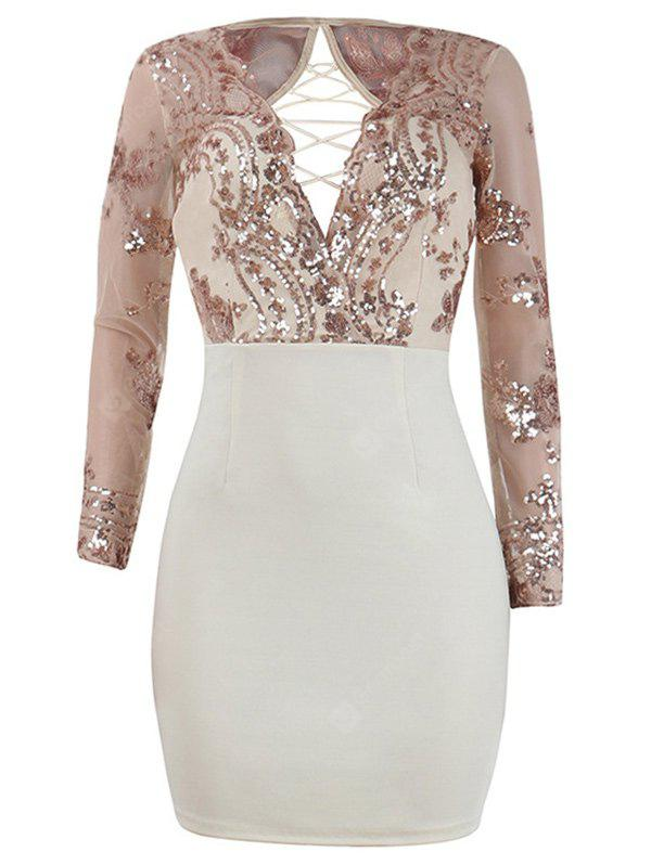 Sequins Lace Up Going Out Dress