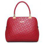 Buy 3 Pieces Quilted Metal Tote Bag Set RED