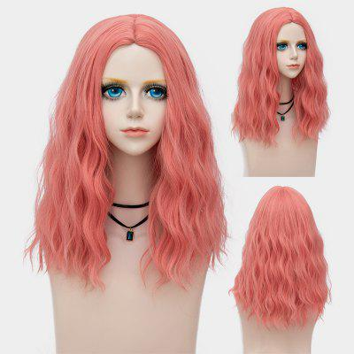Medium Center Parting Shaggy Water Wave Synthetic Party Wig