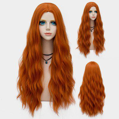 Long Middle Part Shaggy Water Wave Synthetic Party Wig ombre blonde body wavy glueless synthetic lace front wigs heat resistant hair wigs with baby hair
