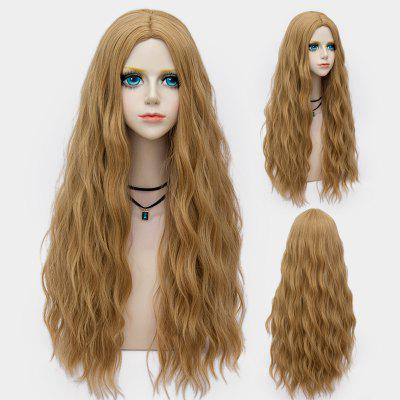 Long Middle Part Shaggy Water Wave Synthetic Party Wig