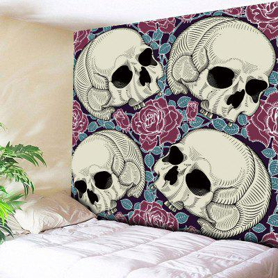 Buy SKULL Halloween Skull Flower Print Wall Tapestry for $16.89 in GearBest store