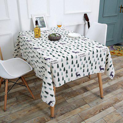 Forest Elk Printed Table Cloth