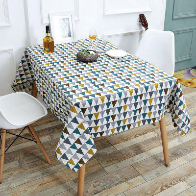 Triangle Pattern Linen Table Cloth