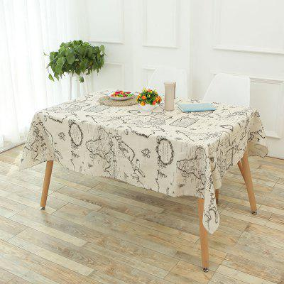World Map Printed Table Cloth