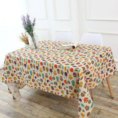 Owl Printed Table Cloth
