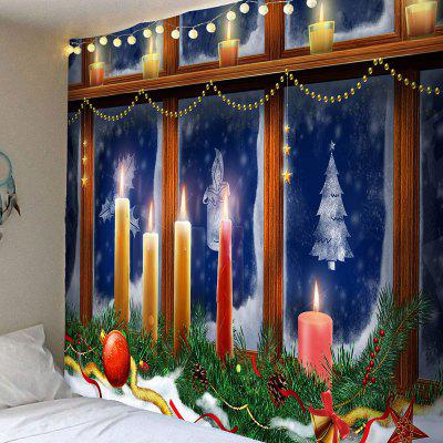 Buy COLORFUL Christmas Decorative Window Candles Pattern Tapestry for $16.45 in GearBest store