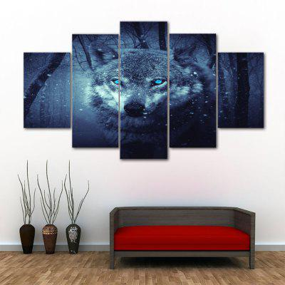 Wolf Print Unframed Canvas Split Paintings