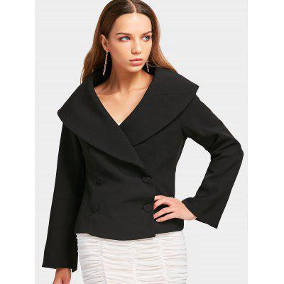 Double-breasted Skirted Fitting Blazer