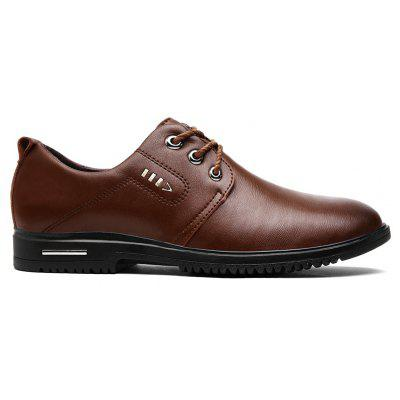 Metal Stitching Faux Leather Formal Shoes