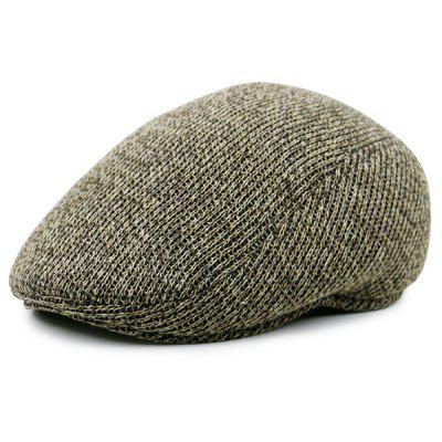 Retro Outdoor Knitted Cabbie Hat