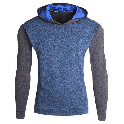 Farbe Block Fitness Pullover Sport Hoodie