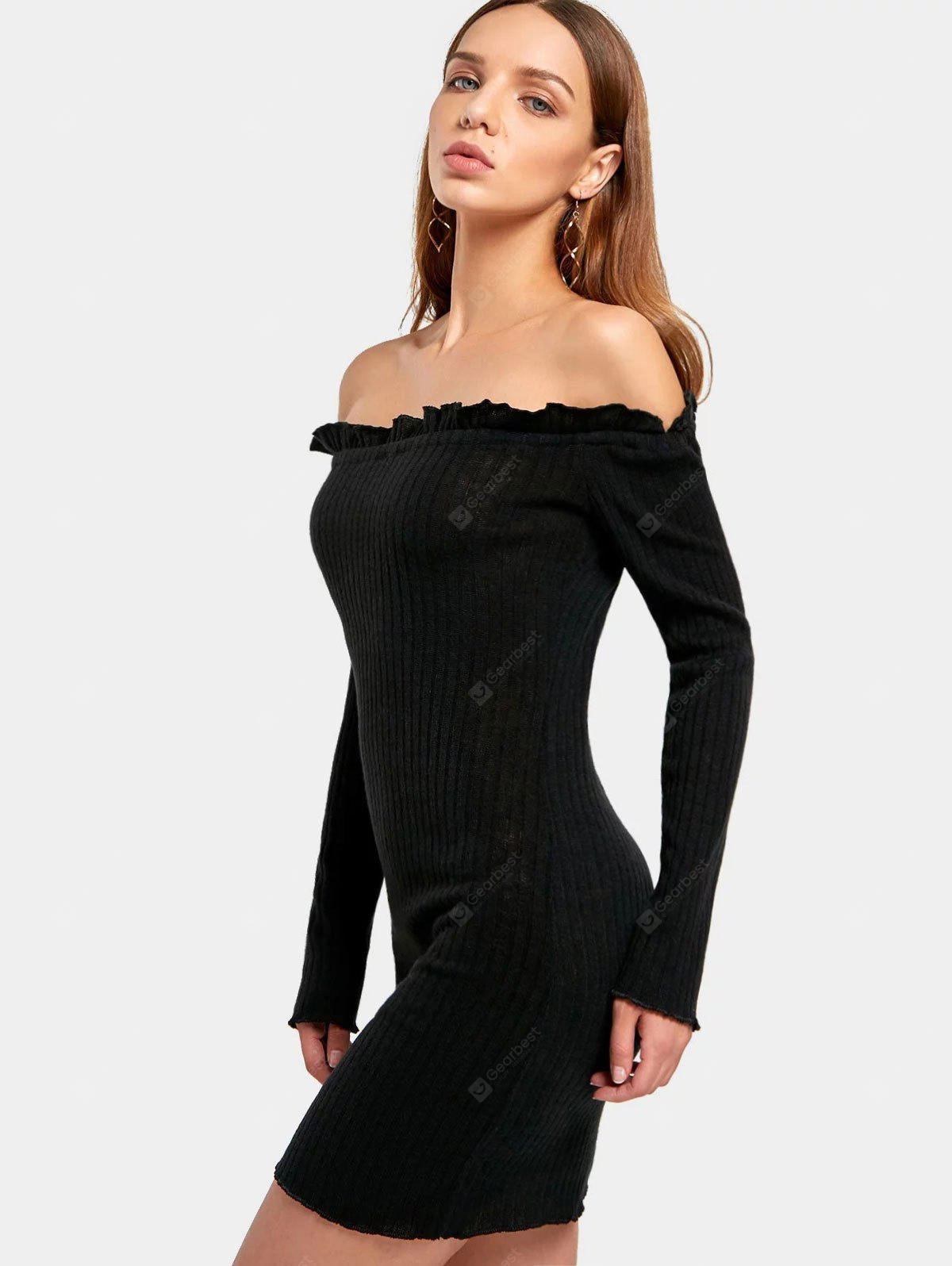 Off The Shoulder Fitted Mini Dress