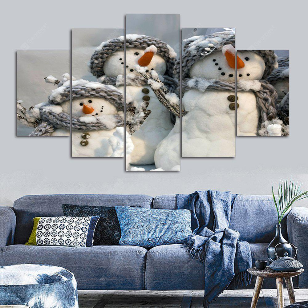 Christmas Snowmen Print Canvas Unframed Split Paintings