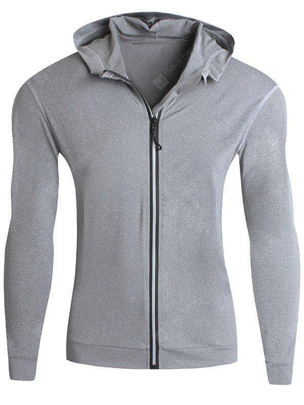 Stretch Zip Up Laufen Hoodie