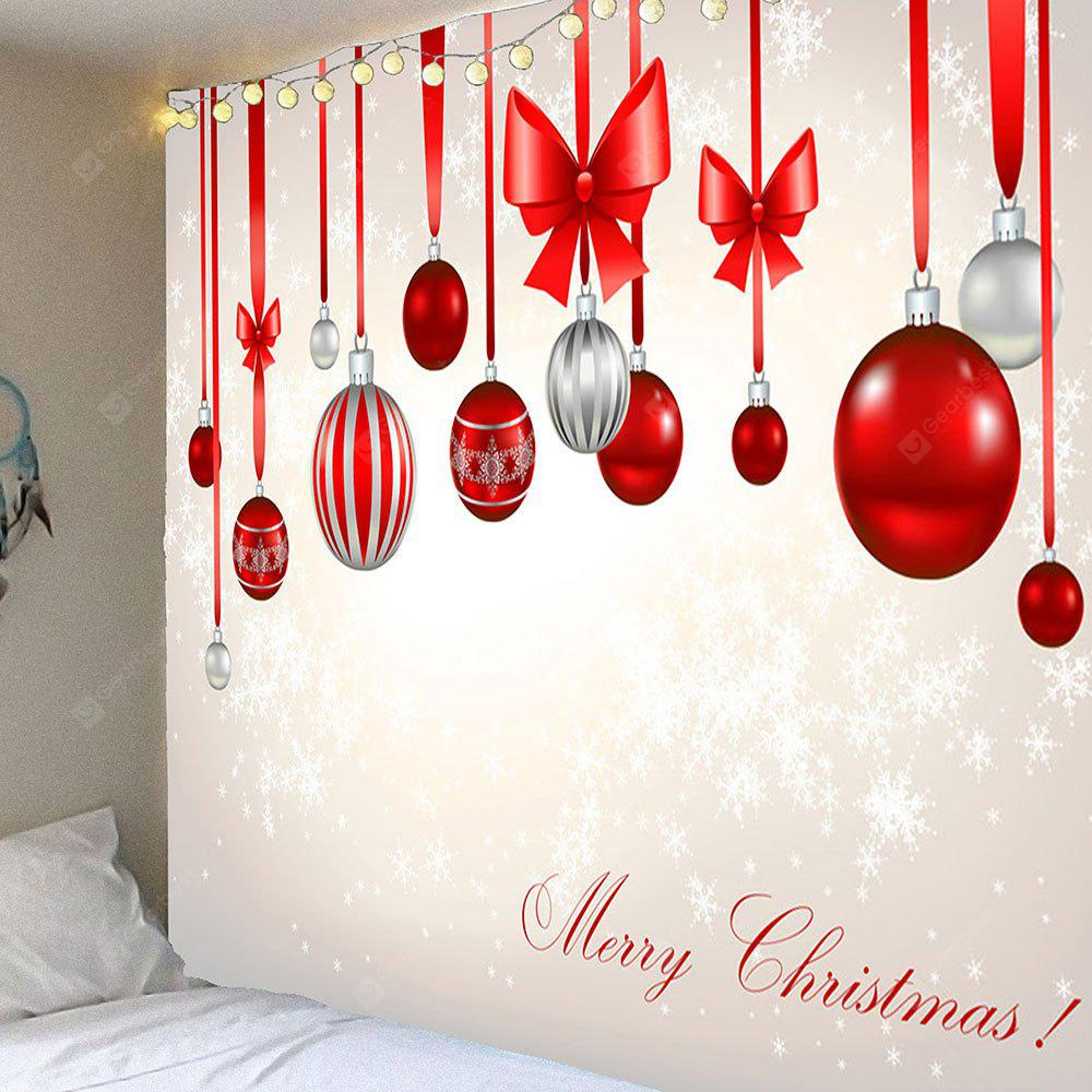 Christmas Bow Knots Balloons Pattern Waterproof Tapestry