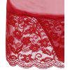 Low Cut Sheer Lace Babydoll - RED