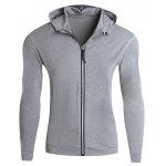 Stretch Zip Up Laufen Hoodie - GRAU