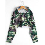 Cropped Camo Hoodie - CAMOUFLAGE