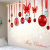 Christmas Bow Knots Balloons Pattern Waterproof Tapestry - COLORFUL