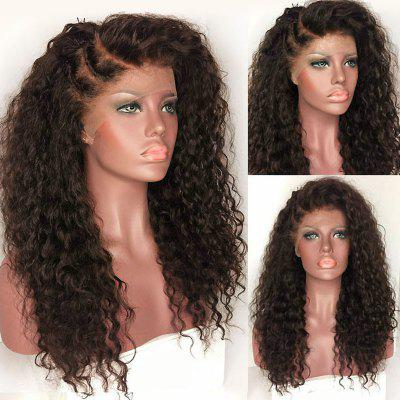 Long Deep Side Part Shaggy Kinky Curly Synthetic Lace Front Wig