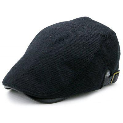 Knitted Cabbie Hat with Two Sides Adjustable Buckles