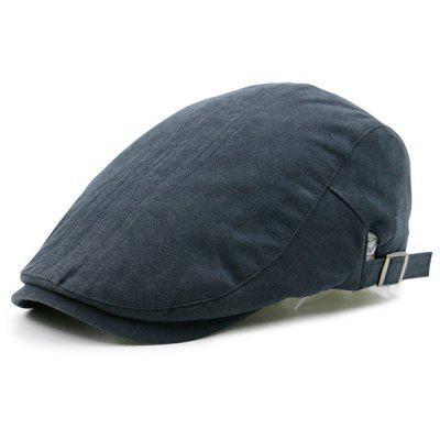 Plain Cabbie Hat with Two Sides Adjustable Buckles