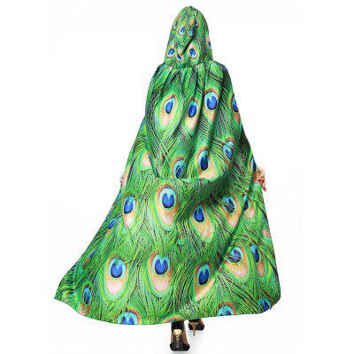 Magic Cloak with Peacock Feather Print