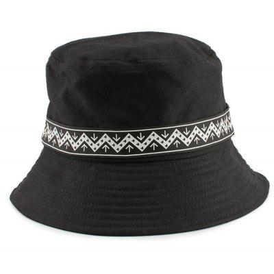 Zigzag Pattern Band Decorated Bucket Hat