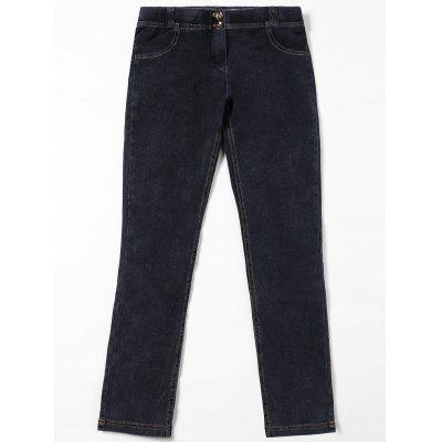 Buy BLACK L Topstitch Patch Pockets Jeans for $28.77 in GearBest store