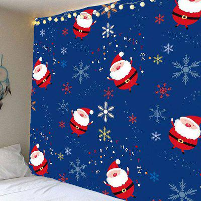 Santa Claus and Snows Pattern Waterproof Wall Hanging Tapestry