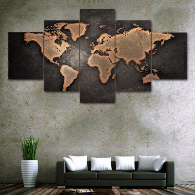 vintage world map print unframed canvas split paintings