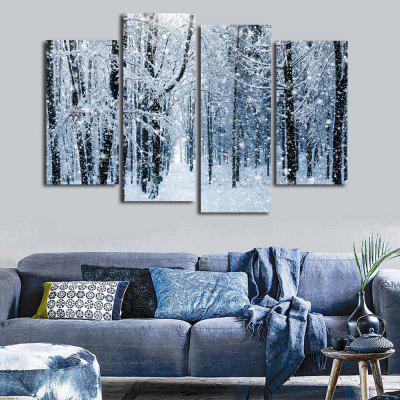 Buy GRAY Snow Forest Print Unframed Canvas Split Paintings for $18.73 in GearBest store