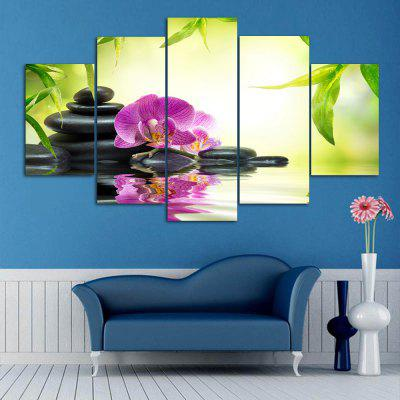 Flower Stone Print Split Canvas Wall Art Paintings