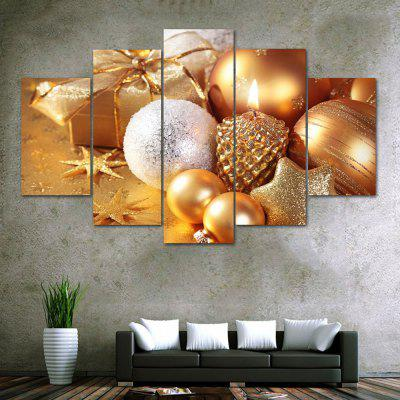 Christmas Gifts Baubles Print Unframed Canvas Split Paintings
