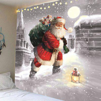 Santa Claus Walking In the Snow Pattern Tapestry